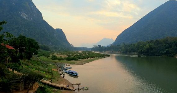Laos River towns