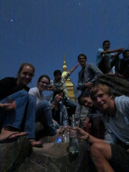 Midnight Temple Party Laos