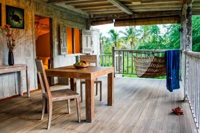 Second floor of our Gili Eco Villa