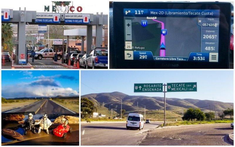 Baja via Tecate Border