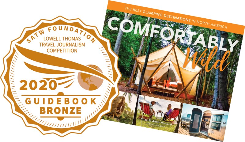 Award-winning glamping book