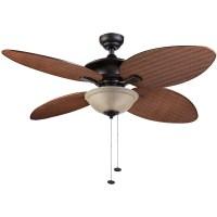 Honeywell Sunset Key Outdoor & Indoor Ceiling Fan, Bronze ...