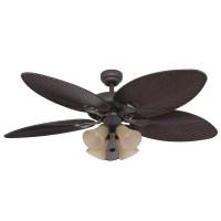 Honeywell Palm Island Ceiling Fan, Bronze Finish, 52 Inch