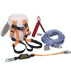 honeywell complete roofer s fall protection system 100 ft lifeline brfk100 z7 honeywell store [ 1000 x 1000 Pixel ]