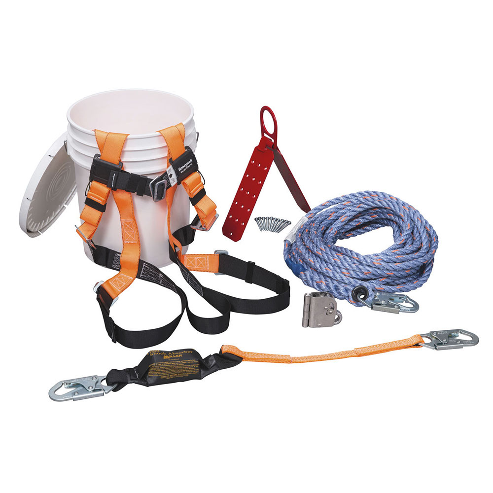 hight resolution of honeywell complete roofer s fall protection system 100 ft lifeline brfk100 z7 honeywell store