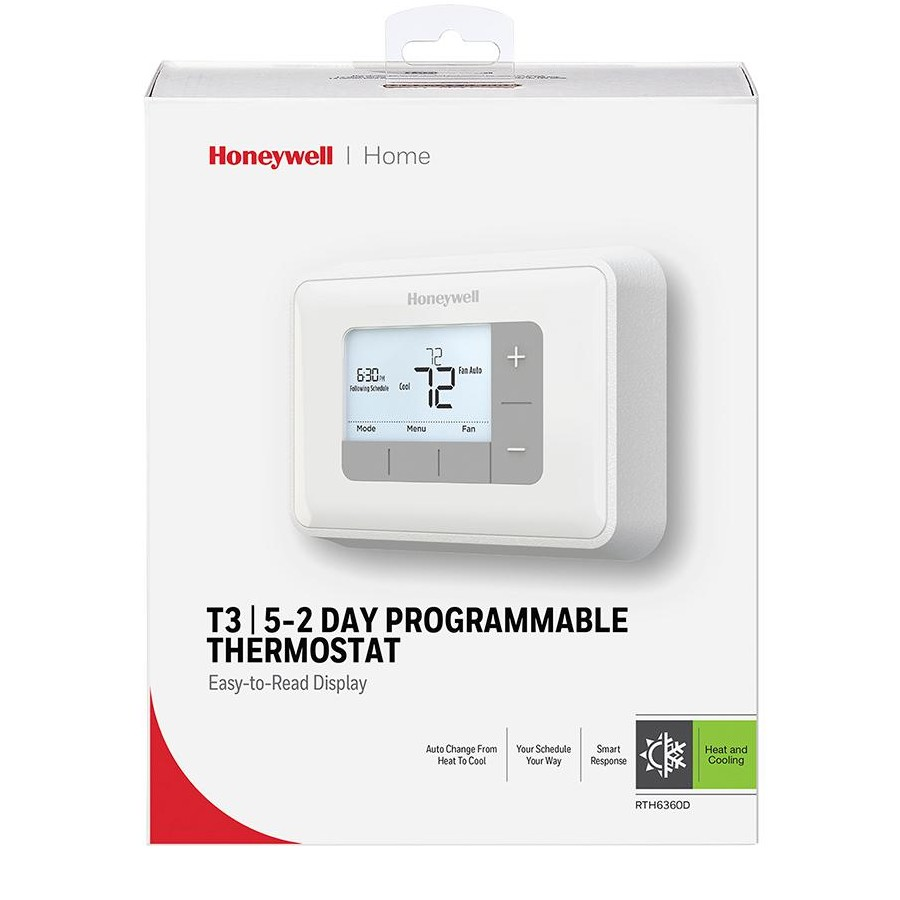 medium resolution of honeywell rth6360d 5 2 day programmable thermostat