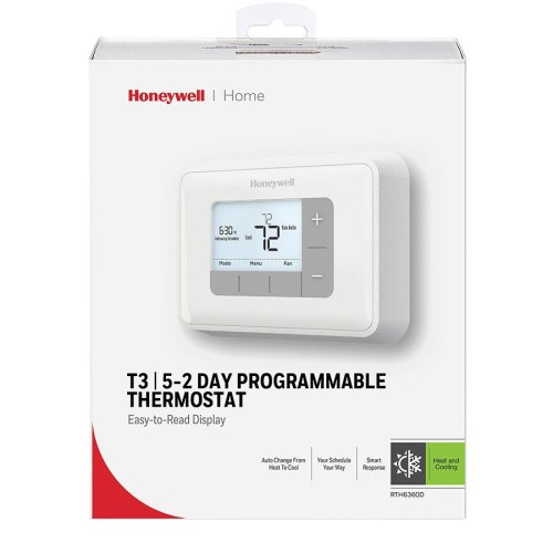 small resolution of honeywell rth6360d 5 2 day programmable thermostat