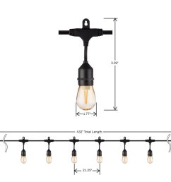 honeywell 36 foot replaceable filament style amber led string light set sw136a221110 [ 900 x 900 Pixel ]