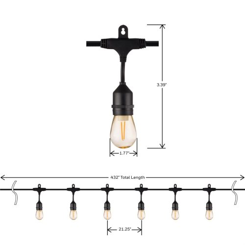 small resolution of honeywell 36 foot replaceable filament style amber led string light set sw136a221110