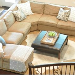 Pottery Barn Chaise Sofa Sectional One Seater Dimensions Our Living Room Pearce A Review Honey This Comes In Four Pieces And Can Be Configured So That The Is On Left Or Right You Have To Careful When Placing Your Order