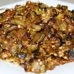 Bhindi Fry (Okra cooked with onions and spices)