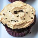 One-Bowl Chocolate Cupcakes & Peanut Butter Frosting (358 Calories & REDUCED FAT)