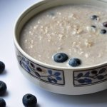 Blueberry Oatmeal with Maple Syrup