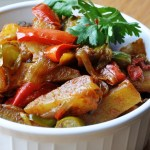Aloo Shimla Mirch (Potatoes with Bell Peppers)