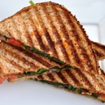 Spinach & Tomato Panini with Buffalo Hot Sauce