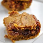 Ooey Gooey Caramel Pumpkin Blondies (Reduced Fat & 178 calories)