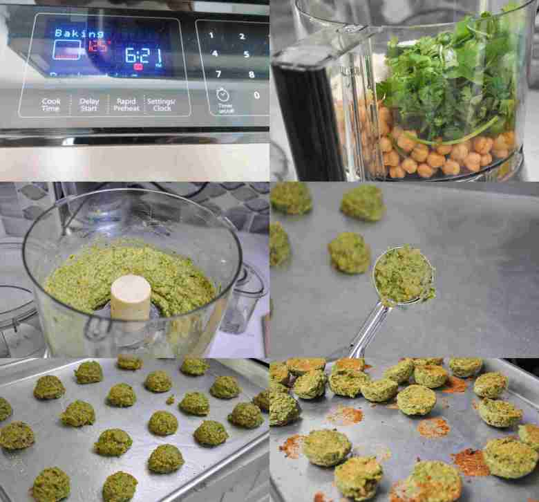 Baked Falafel (healthy, whole wheat, dairy free)
