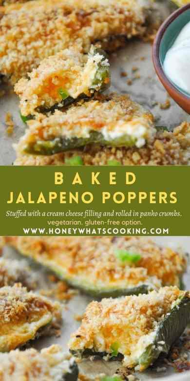 Baked Jalapeno Poppers #bakedjalapenopoppers #jalapenopoppers #vegetarianappetizer