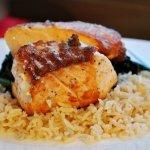 Grilled Salmon in a Lemon Garlic Sauce… & Bluestar Cookware!