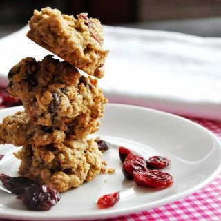Healthier Oatmeal Cranberry-Orange Pecan Cookies