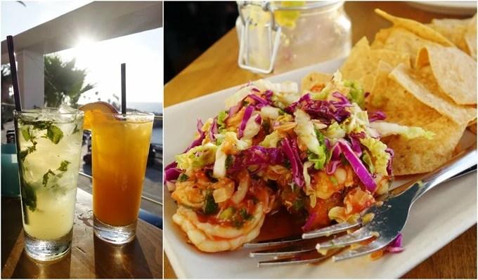 Cocktails, Fiery Shrimp Ceviche - Brockton Villa La Jolla