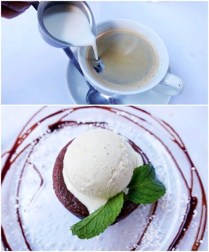 Coffee, Chocolate Molten Lava Cake, Pump LA