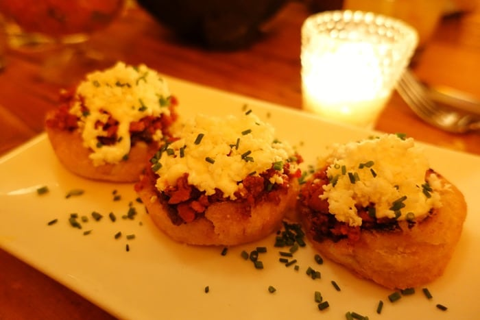 Sopes con Chorizo - Papatzul, NYC