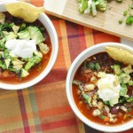 Sweet Potato Bean Chili (healthy, vegan, gluten-free, high protein, high fiber)