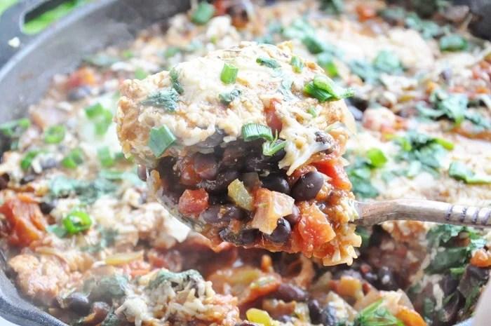 Black Bean Mexican Skillet Eggs (4)
