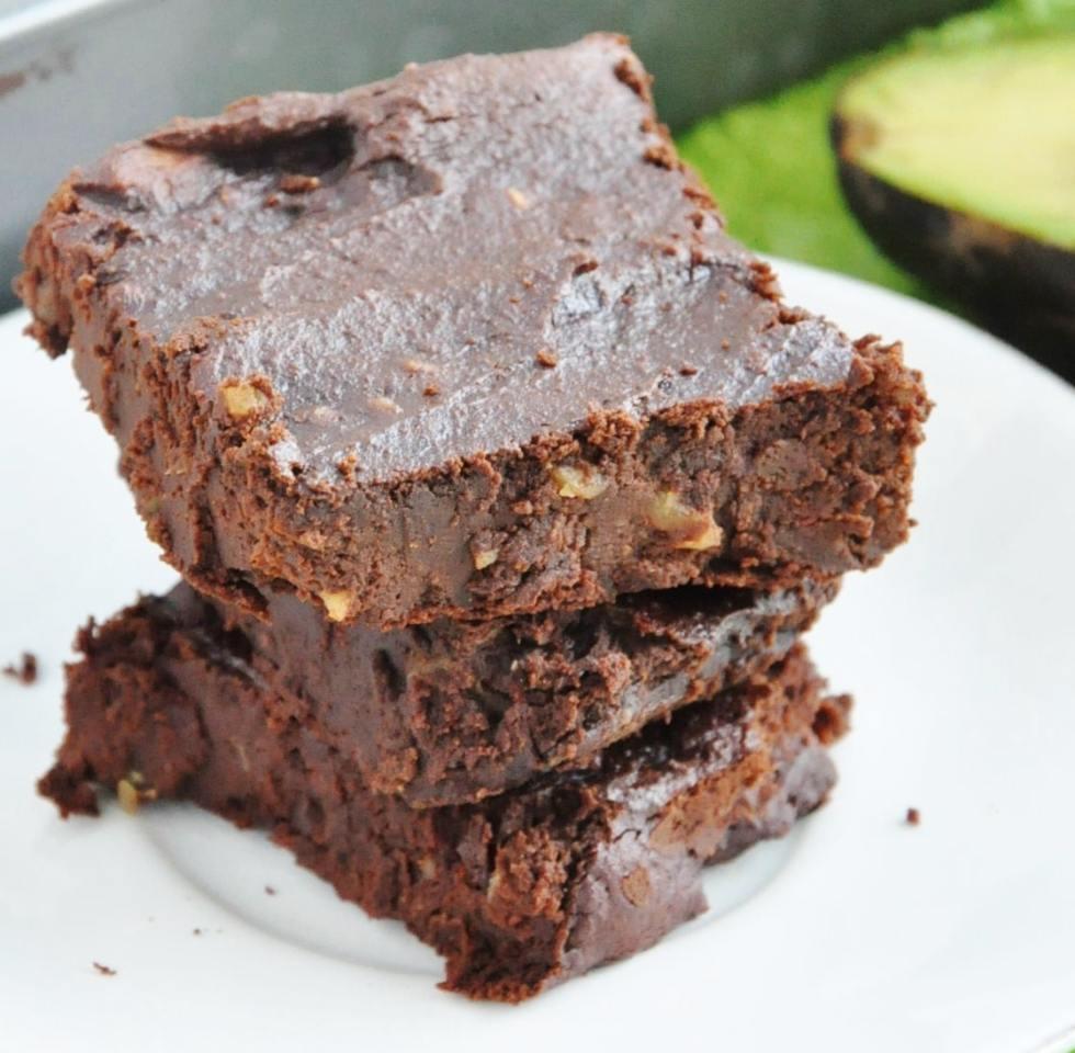 Avocado Walnut Brownies (8)