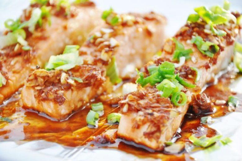Honey Glazed Ginger Garlic Salmon (healthy-ish, gluten-free, dairy-free)