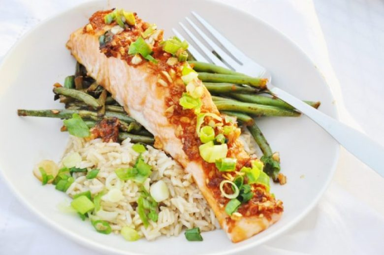 Honey Glazed Ginger Garlic Salmon