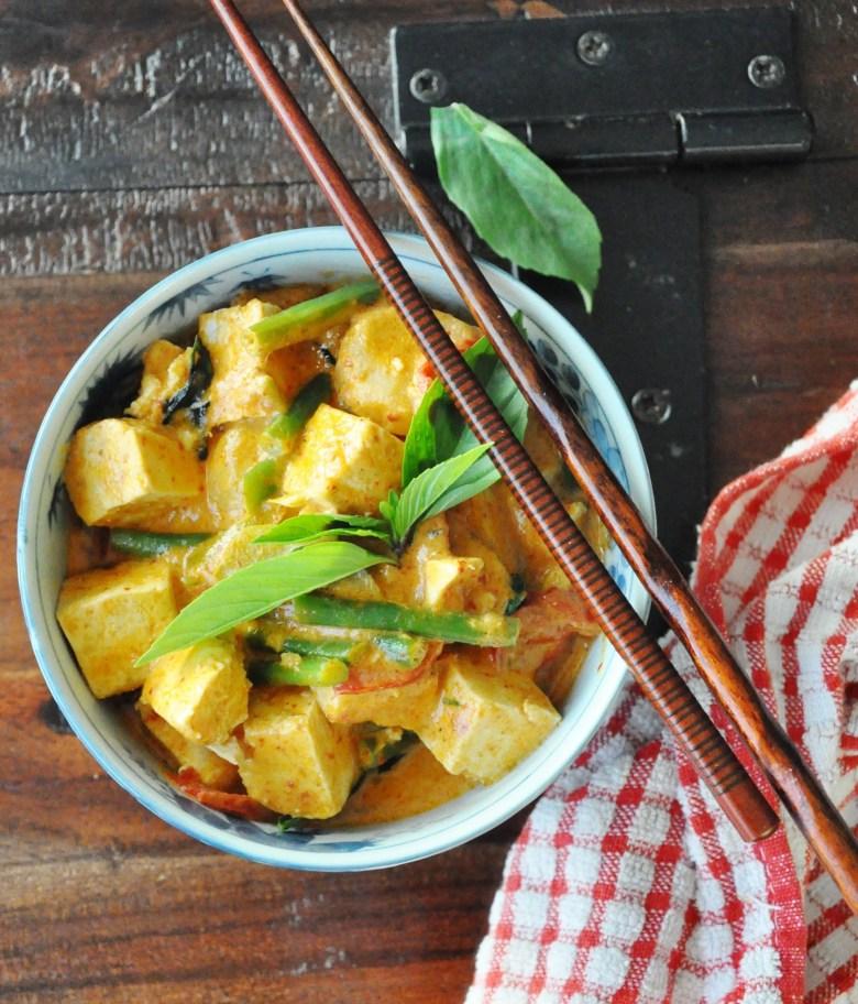 Tofu Thai Red Curry (vegan option, gluten-free, dairy-free)