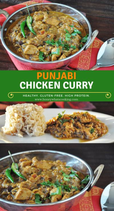 Punjabi Chicken Curry - healthy, gluten-free, high protein