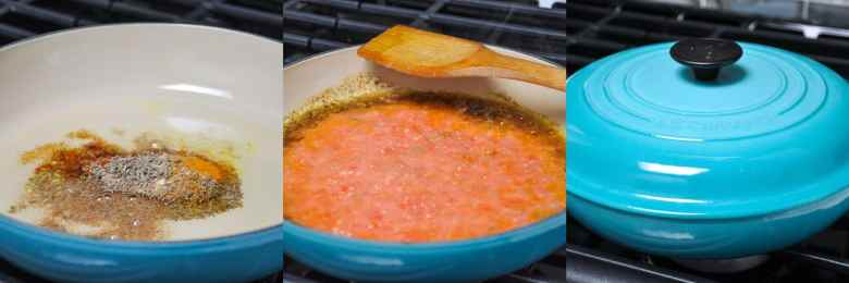 Aloo Rasedar | Potatoes in a Tomato Ginger Gravy (vegan, gluten-free)