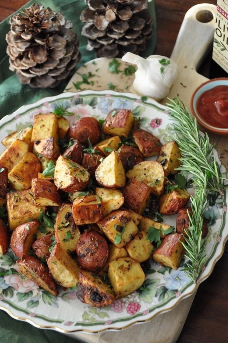 Chatpate Rosemary Roasted Potatoes (vegan, gluten-free)