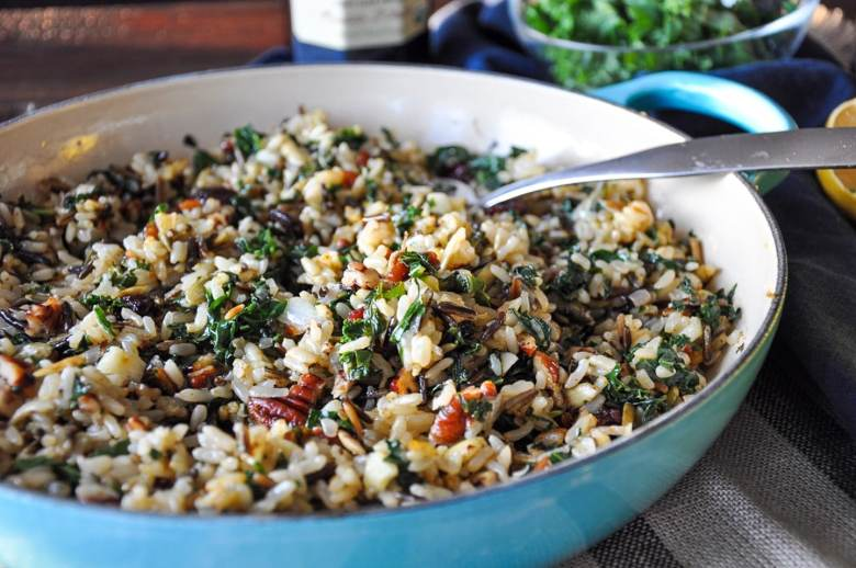 Kale Cranberry Curry Wild Rice