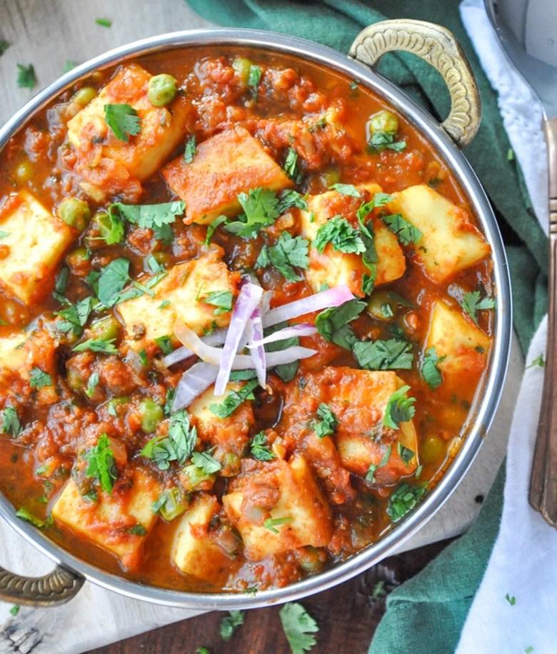 Matar Paneer (vegetarian, gluten-free)