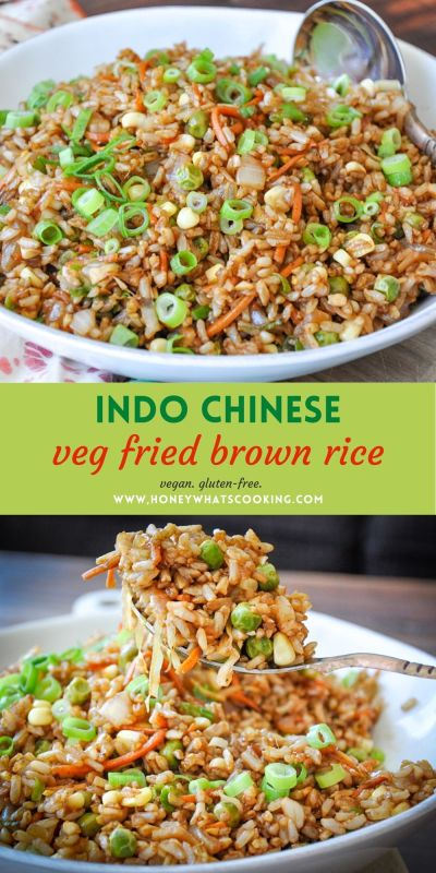 Indo Chinese Fried Rice (brown rice, vegan, gluten-free)