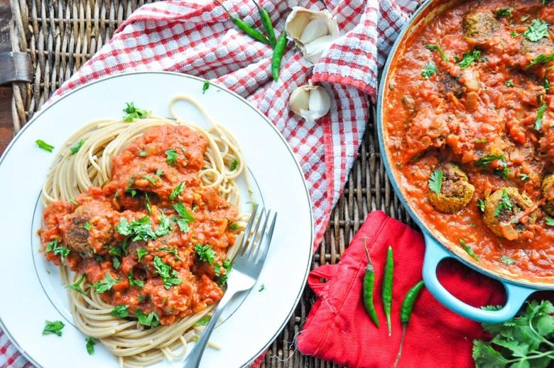 Indian Vegetarian Meatballs - Paneer Quinoa Meatballs (GF option)