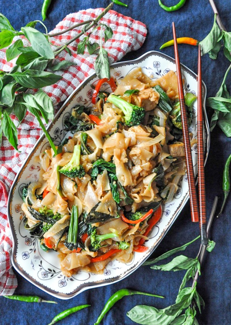 Drunken Noodles | Pad Kee Mao (vegan, GF option)