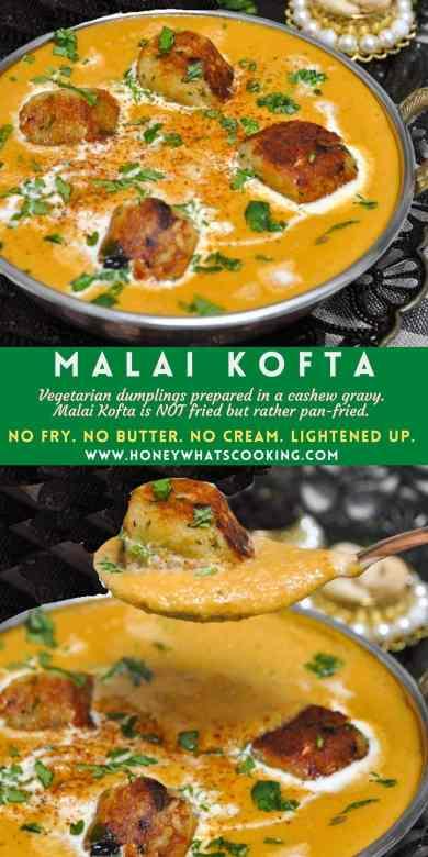 Malai Kofta (no fry, no butter, no cream, GF)