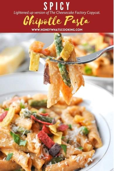 Spicy Chipotle Pasta (vegetarian, gluten-free option)