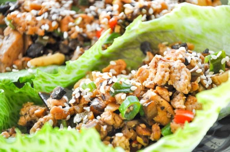Tofu Lettuce Wraps (vegan, gluten-free, healthy)