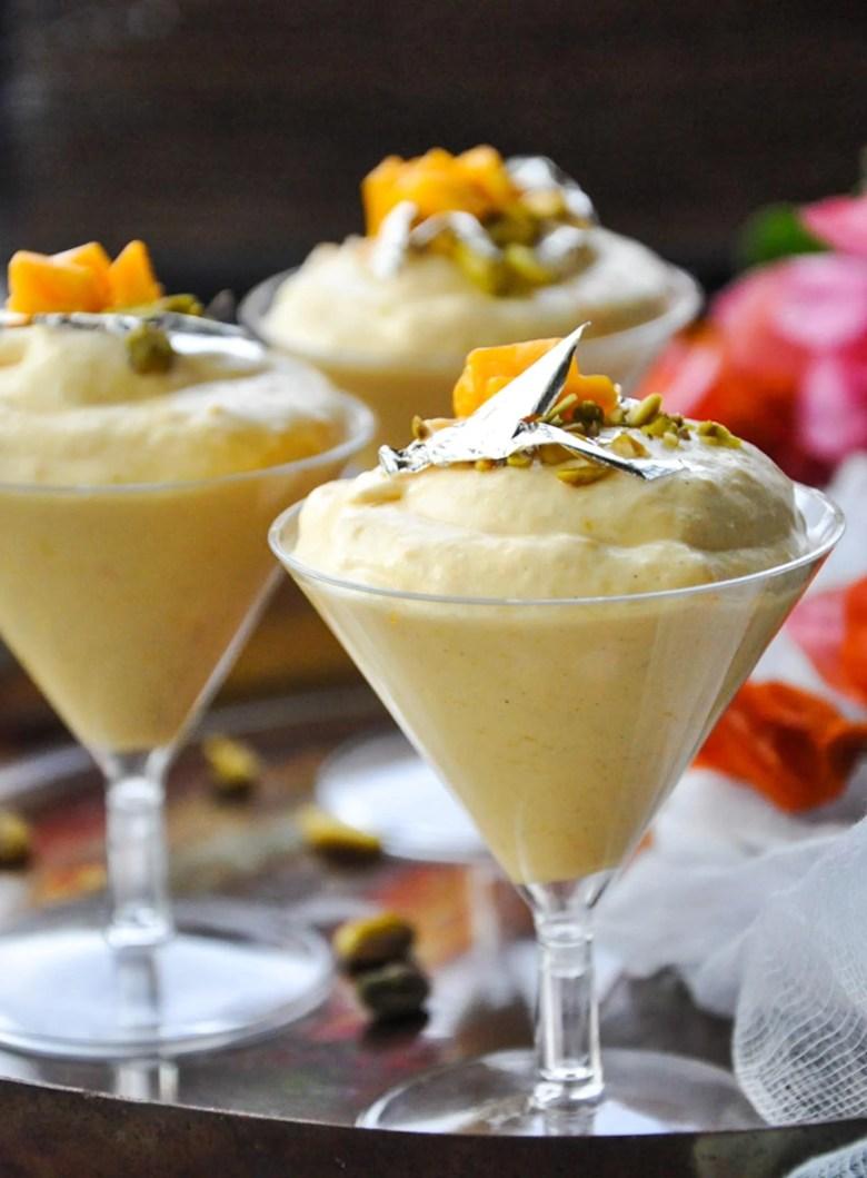 Mango Mousse (eggless, gluten-free)
