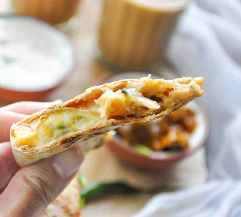 Aloo Paratha Quesadillas (vegetarian)
