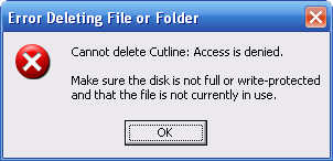 Make sure that the file is not currently in use