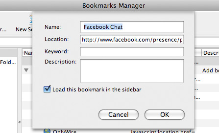 fchat02 How to Place Facebook Chat On Firefox Sidebar