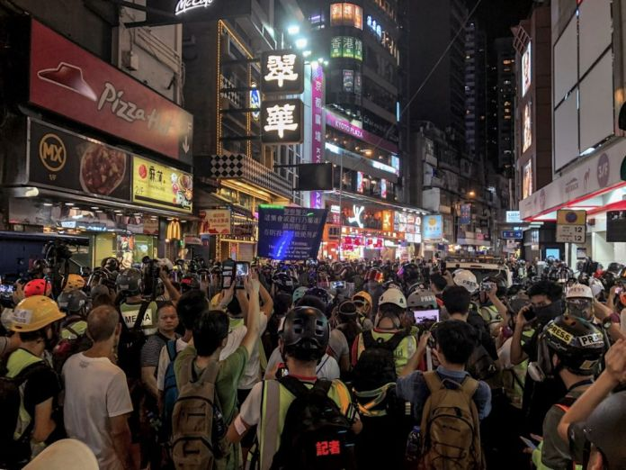 september 15 China extradition police causeway bay