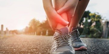 Acute ankle sprain injury
